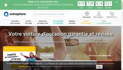 Site internet de Autosphere