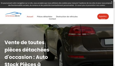 Site internet de SARL Auto Stock Piece
