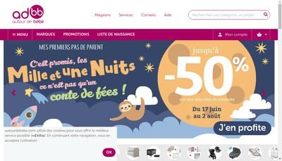 Site internet de Autour de Bebe