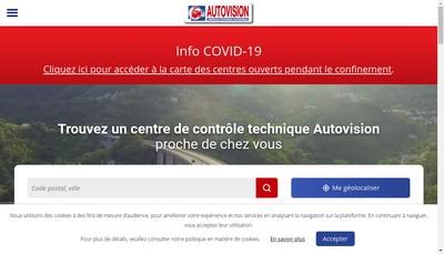 Site internet de Autovision St Max