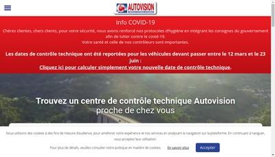 Site internet de Autovision