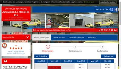 Site internet de Centre de Controle Technique Automobile