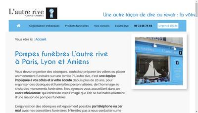 Site internet de L'Autre Rive Pompes Funebres