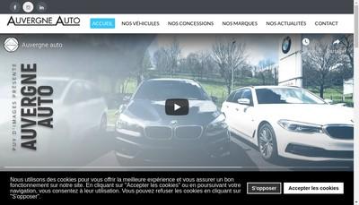 Site internet de Auvergne Auto