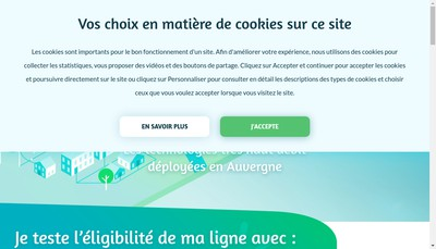 Site internet de Auvergne Tres Haut Debit