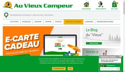 Site internet de Au Vieux Campeur Chambery