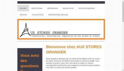 Site internet de Aux Stores Granger