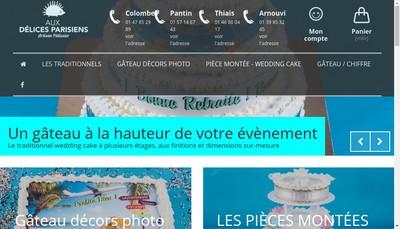Site internet de Aux Delices Parisiens