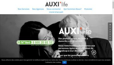 Site internet de Auxi'Life 60
