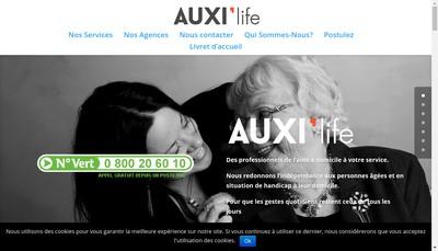 Site internet de Auxi'Life 75