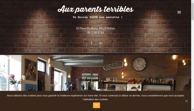 Site internet de Aux Parents Terribles