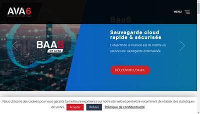 Site internet de Ava6 Ingenierie