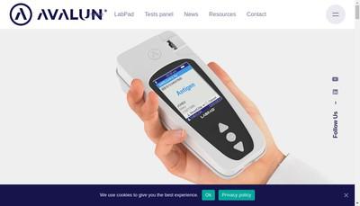 Site internet de Avalun