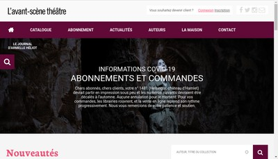 Site internet de L'Avant Scene Theatre