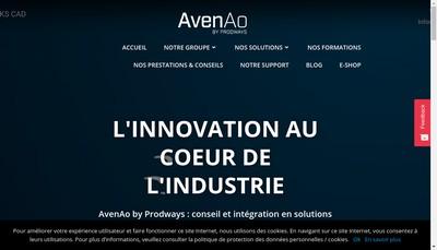 Site internet de Avenao Solutions 3D