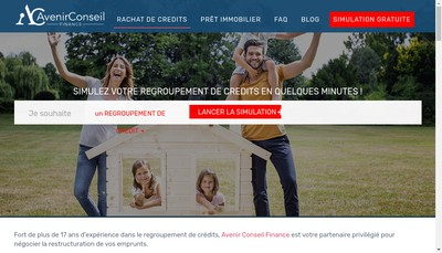 Site internet de Avenir Conseil Finance