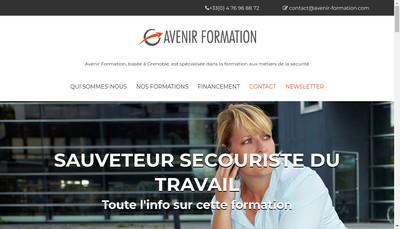 Site internet de Avenir Formation