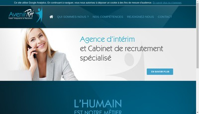 Site internet de Avenir Rh