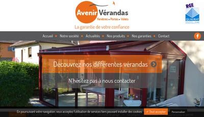 Site internet de Avenir Verandas