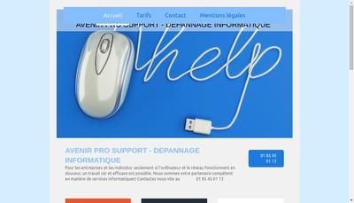 Site internet de Avenir Pro Conseil