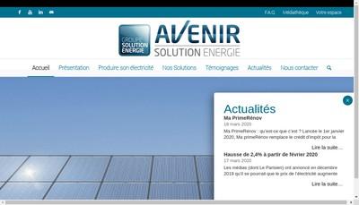 Site internet de Avenir Solution Energie