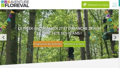 Site internet de Aventure Floreval