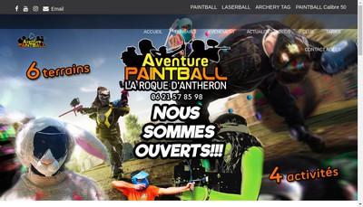 Site internet de Aventure Paintball