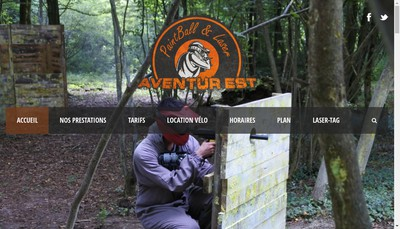 Site internet de Aventur'Est Paintball