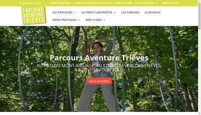 Site internet de Parcours Aventure Trieves
