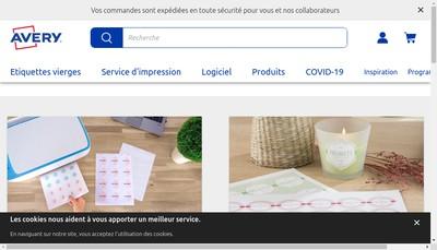 Site internet de Avery France