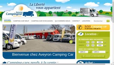 Site internet de Aveyron Camping Car