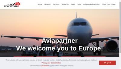 Site internet de Aviapartner Merignac