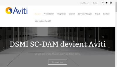 Site internet de Dsmi Sc-Dam