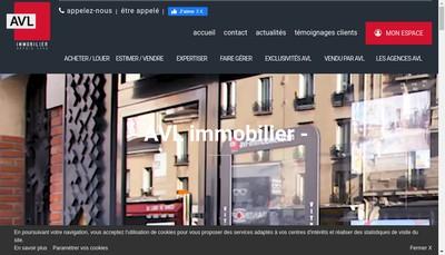 Site internet de Avl Immobilier Hoche