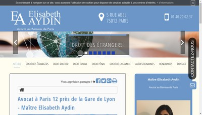 Site internet de Elisabeth Aydin