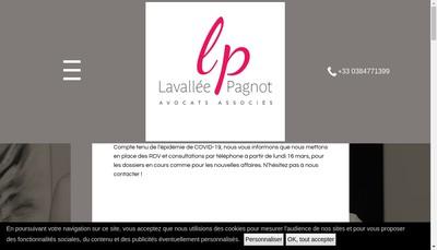 Site internet de SCP d'Avocats Lavallee - Pagnot