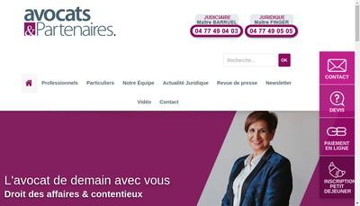 Site internet de Avocats & Partenaires Gironde
