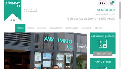 Site internet de Awimmo 64