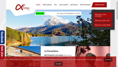 Site internet de Excellence Spa Balneo - Massage - Bien Etre - Esthetique - Fitness - Ax'Hotel