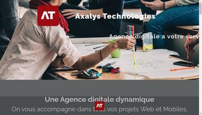 Site internet de Axalys Technologies