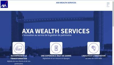 Site internet de Axa Wealth Services