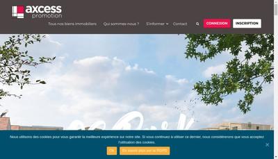 Site internet de Axcess Promotion