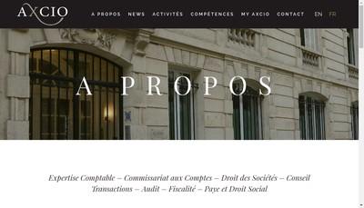 Site internet de Axcio