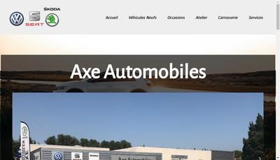 Site internet de Axe Automobiles