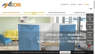 Site internet de Axeos