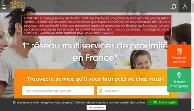 Site internet de Axeo Pro Services