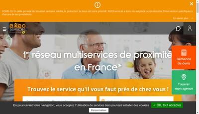 Site internet de Axes Services a Domicile