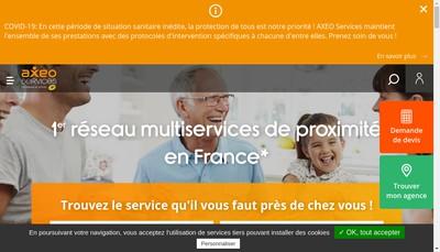 Site internet de Axeo Services