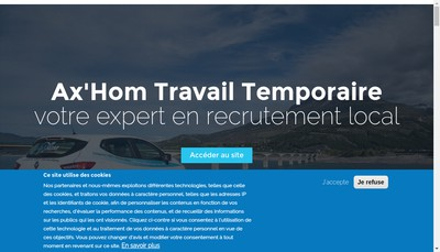 Site internet de Travail Temporaire Alpes Mediterranee - Tam