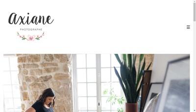 Site internet de Axiane Photographe